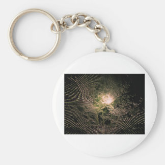 Eternal Light 2 Abstract Basic Round Button Keychain