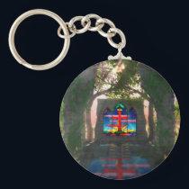 Eternal Light Easter Keychain