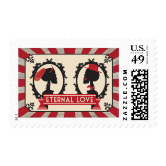 Eternal Love Cameo Skull Banner Steampunk Stamps