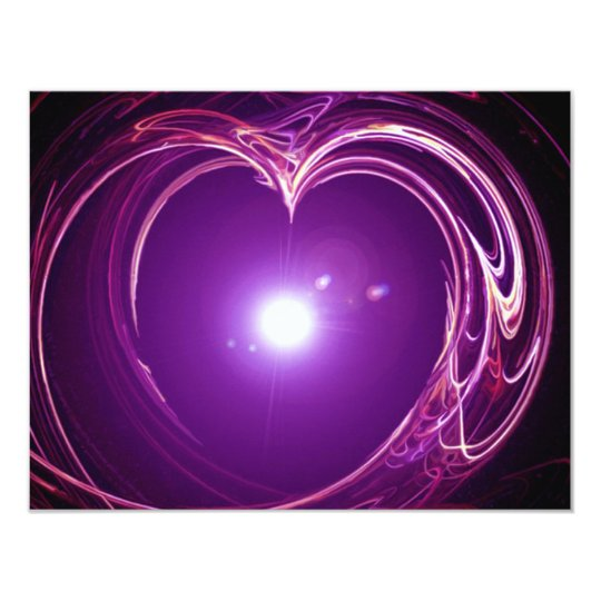 Eternal Love 'Fractal Heart' Digital Art Design Card