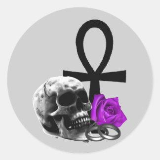 Eternal Love Gothic Vampire Wedding Classic Round Sticker