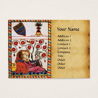 ETERNAL LOVE , MONOGRAM  parchment Business Card