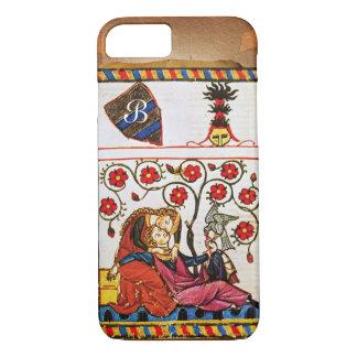 ETERNAL LOVE MONOGRAM parchment iPhone 8/7 Case