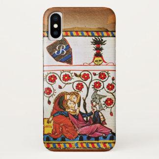 ETERNAL LOVE MONOGRAM parchment iPhone X Case