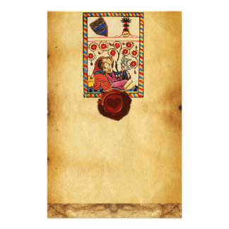 ETERNAL LOVE PARCHMENT RED HEART WAX SEAL STATIONERY