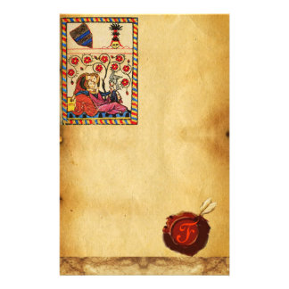 ETERNAL LOVE PARCHMENT RED WAX SEAL  MONOGRAM STATIONERY