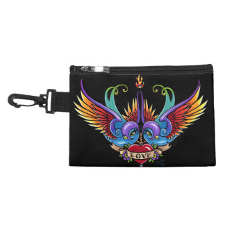 Eternal Love Rainbow Love Swallows Clip On Bag