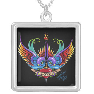 """Eternal Love"" Rainbow Swallow Fae Tattoo Necklace"