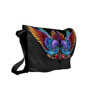 Eternal Love Rainbow Swallow Tattoo Messenger Bag