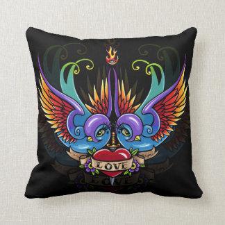Eternal Love Rainbow Swallow Tattoo Pillow
