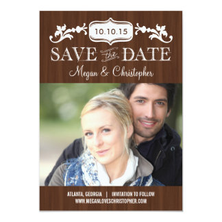 Eternal Love Save The Date - Wood Card