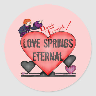 Eternal Love T-shirts and Gifts Round Sticker
