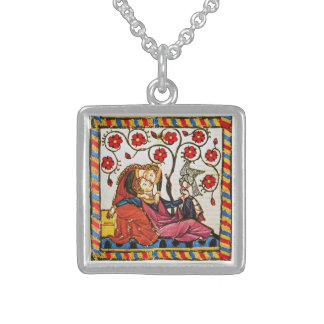 ETERNAL LOVE VALENTINE'S DAY  PARCHMENT STERLING SILVER NECKLACE