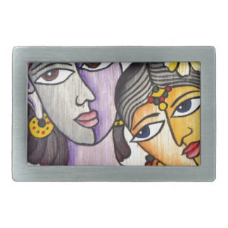 Eternal Lovers -Radha Krishna Rectangular Belt Buckle