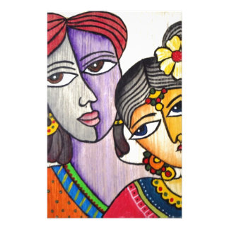 Eternal Lovers -Radha Krishna Custom Stationery