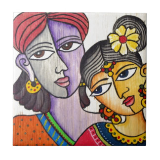 Eternal Lovers -Radha Krishna Tile