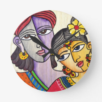 Eternal Lovers -Radha Krishna Wallclocks