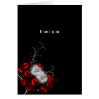 Eternal Memories Gothic Wedding Thank You Card