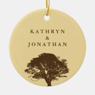 Eternal oak tree sentiment yellow holiday keepsake christmas tree ornament