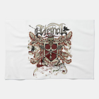 eternal pride anger affected red hand towel