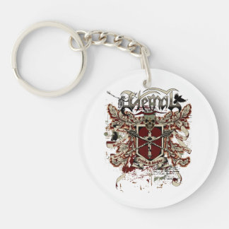 eternal pride anger affected red keychain