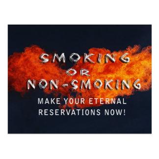 ETERNAL RESERVATIONS - SMOKING OR NON-SMOKING POSTCARD
