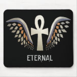 Eternal- Silver Ankh Mouse Pad