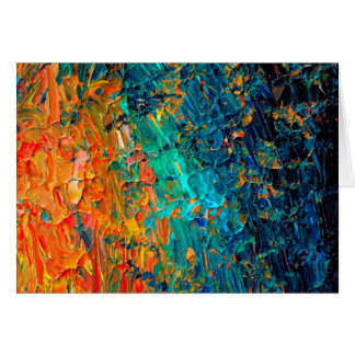 ETERNAL TIDE 2 Orange Turquoise Blue Black Ombre Greeting Card