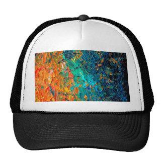 ETERNAL TIDE 2 Orange Turquoise Blue Black Ombre Trucker Hat