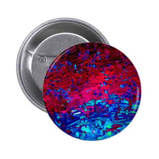 ETERNAL TIDE Bold Fuchsia Pink Red Blue Ombre Art 2 Inch Round Button