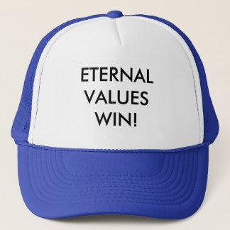 ETERNAL VALUES WIN TRUCKER HAT