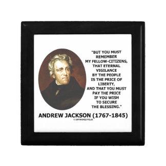 Eternal Vigilance People Price Of Liberty Jackson Keepsake Box