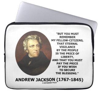 Eternal Vigilance People Price Of Liberty Jackson Computer Sleeve