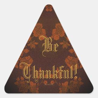 EternalAutumn Southern Pecan Brown Triangle Sticker