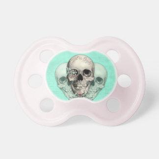 Eternally Sweet lollipop skull. Baby Pacifiers