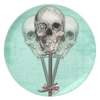 Eternally Sweet lollipop skull. Plate