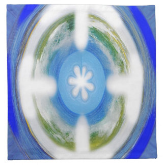 Eternidad azul servilleta imprimida