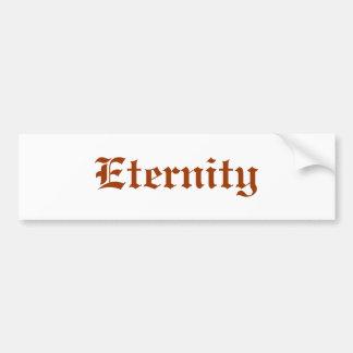 Eternidad Etiqueta De Parachoque