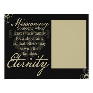 Eternidad de los misionarios tarjeta publicitaria