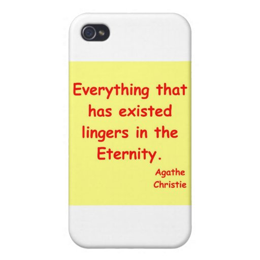 eternidad del christie del agatha iPhone 4/4S carcasas