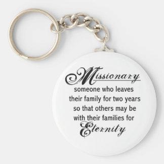 Eternidad del misionario llavero redondo tipo pin