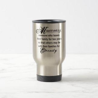 Eternidad del misionario taza de viaje de acero inoxidable