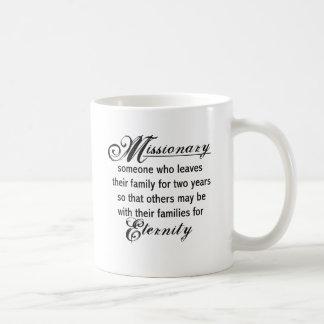 Eternidad del misionario taza básica blanca