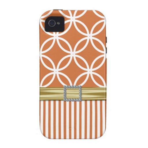 Eternity Circles & Stripes  iPhone 4 Case-peach