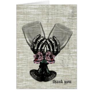 Eternity Gothic Vintage Wedding Thank You Card