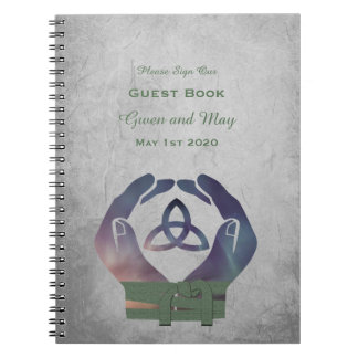 Eternity Handfasting Guest Book Spiral Note Books