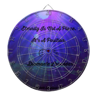 Eternity Is Not A Place by Diamante Lavendar Dartboard