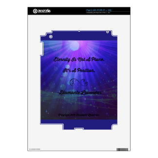 Eternity Is Not A Place by Diamante Lavendar Decals For The iPad 2