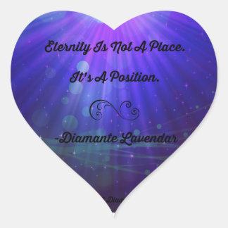 Eternity Is Not A Place by Diamante Lavendar Heart Sticker