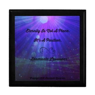 Eternity Is Not A Place by Diamante Lavendar Jewelry Box